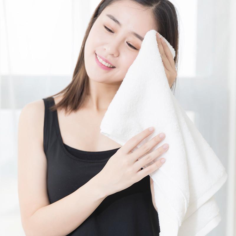 埃及进口长绒棉毛巾 白色