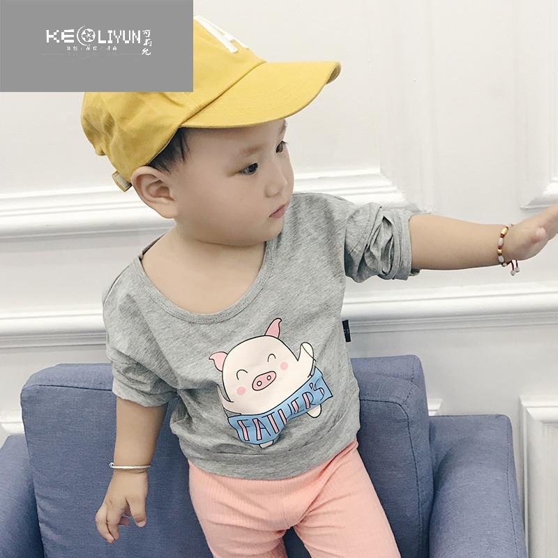 婴儿女宝宝秋装1-3岁打底衫可爱卡通长袖t恤男宝上衣服潮 66cm 紫色