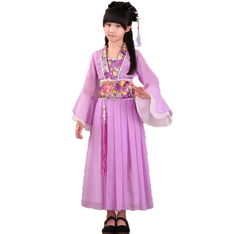 儿童表演舞蹈服古装七仙女公主裙汉服演出服舞台表演服古代服装儿童