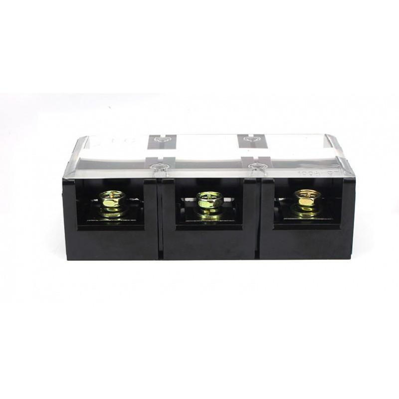 tc-1003100a/3p耐高温大电流铜接线端子接线柱接线排tc1003