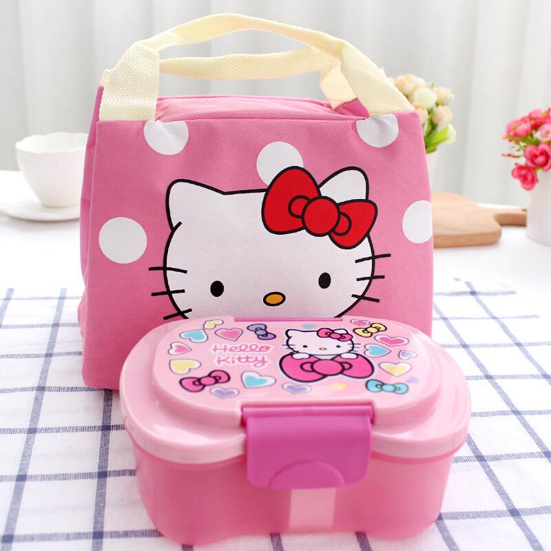 卡通可爱塑料便当盒微波炉饭盒分格水果保鲜盒可爱饭盒c j501kt kt