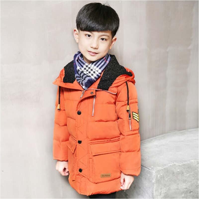 童_冬季男大童男孩中大童儿童羽绒服男童中长款外套童装羽绒服_7 170cm
