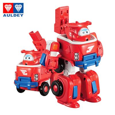 奧迪雙鉆(AULDEY)超級飛俠 載具變形 拼裝組裝 Q版機器人套裝-樂迪