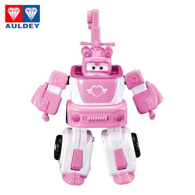 奧迪雙鉆(AULDEY)超級飛俠 載具變形 拼裝組裝 Q版機器人套裝-小愛