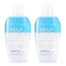 美宝莲(Maybelline)眼部及唇部卸妆液70ml*2 组合装