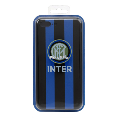 國際米蘭俱樂部Inter Milan 蘋果iphone8plus浮雕手機殼-經典LOGO款
