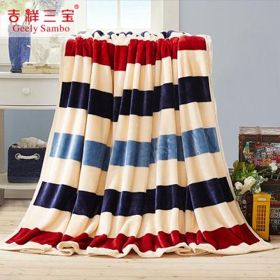 吉祥三宝(Geely Sanbo)家纺 美丽童话 法兰绒咖色毛毯 午睡空调毯