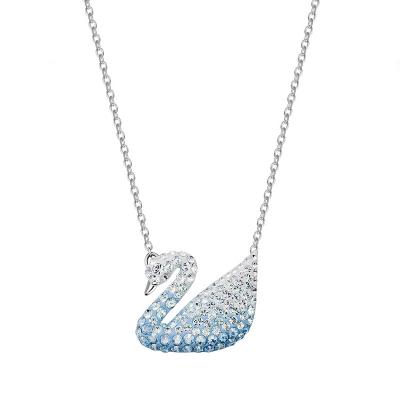 施華洛世奇(SWAROVSKI) 漸變藍色天鵝水晶項鏈大號 人造水晶 送戀人5512095