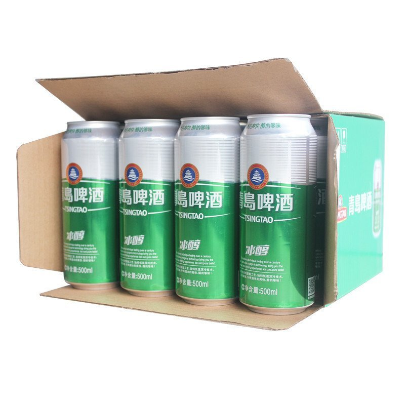 青岛啤酒 冰醇(8度)500ml*12罐啤