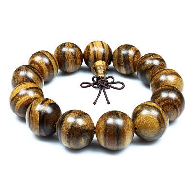 月印百川 老料虎斑紋花奇楠手串木飾佛珠手鏈