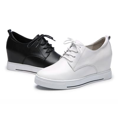 红蜻蜓女鞋正品小白鞋休闲内增高女鞋系带运动坡跟单鞋潮皮鞋子潮