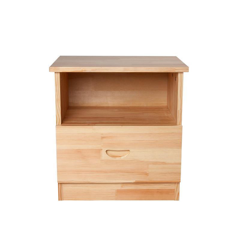 床头柜实木 清漆原色 松木床头柜 清漆原木色