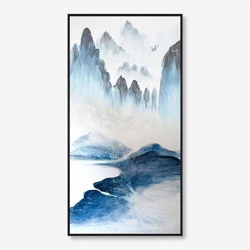 劳伦斯中式客厅装饰画禅意水墨山水画北欧抽象沙发背景墙挂画玄关壁画