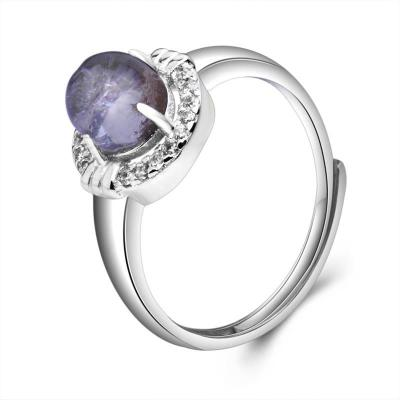 梦克拉 Mkela S925银镶发晶戒指 炫动 戒指 水晶 民族风 女士