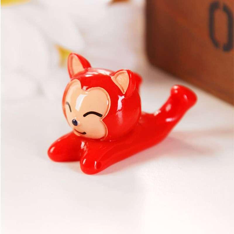 萌动物卡通手机小支架托架 可爱懒人多功能手机座 k2332 红色阿狸