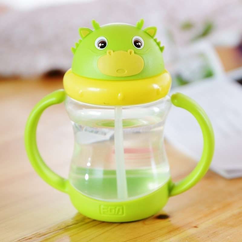 富光太空杯创意可爱时尚儿童杯便携杯子带盖茶水杯儿童吸管塑料杯
