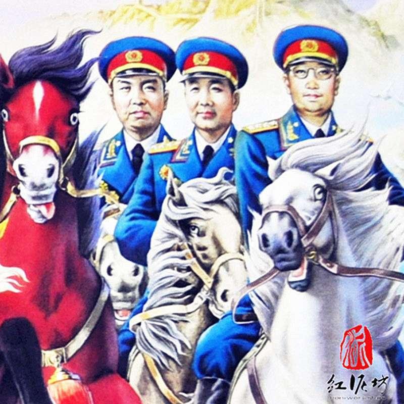 杨柳青年画 十大将军 红色记忆 红军海报 纪念历史 建国 爱国 中国梦