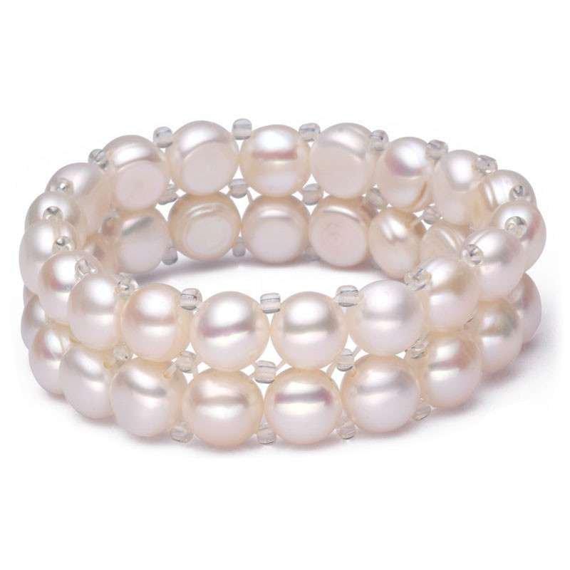 迈姿优雅简约天然淡水珍珠双排珍珠手链