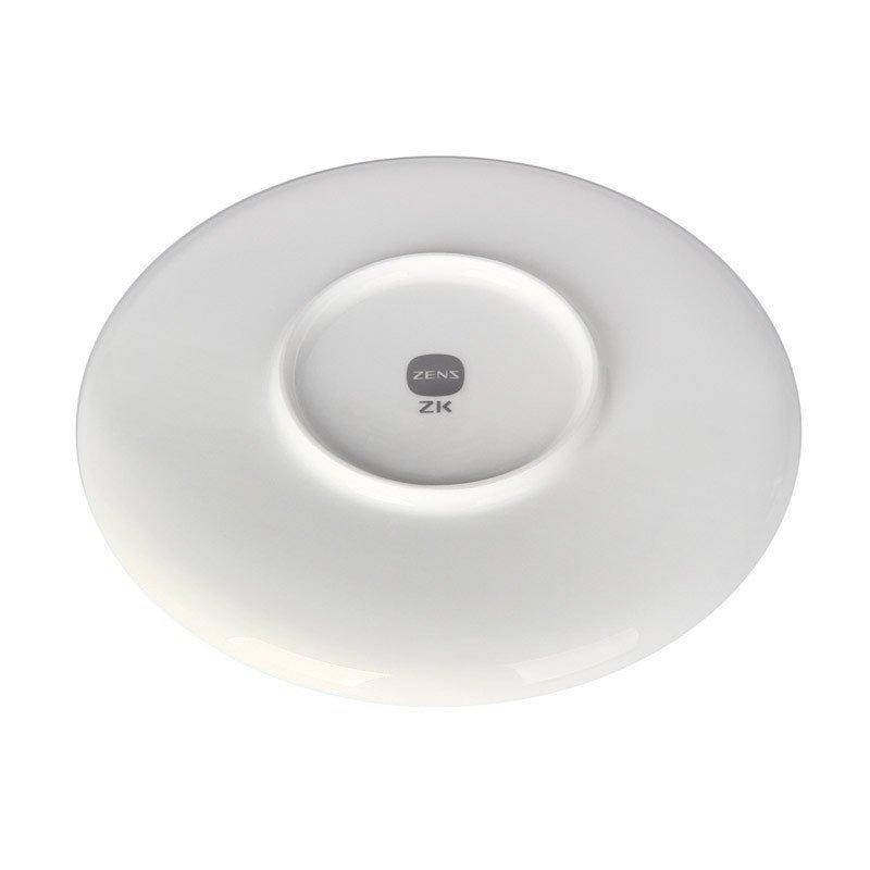 哲品zk餐具套装陶瓷家用景德镇白瓷圆脚碟碗圆形菜盘组合黑川雅之 175图片