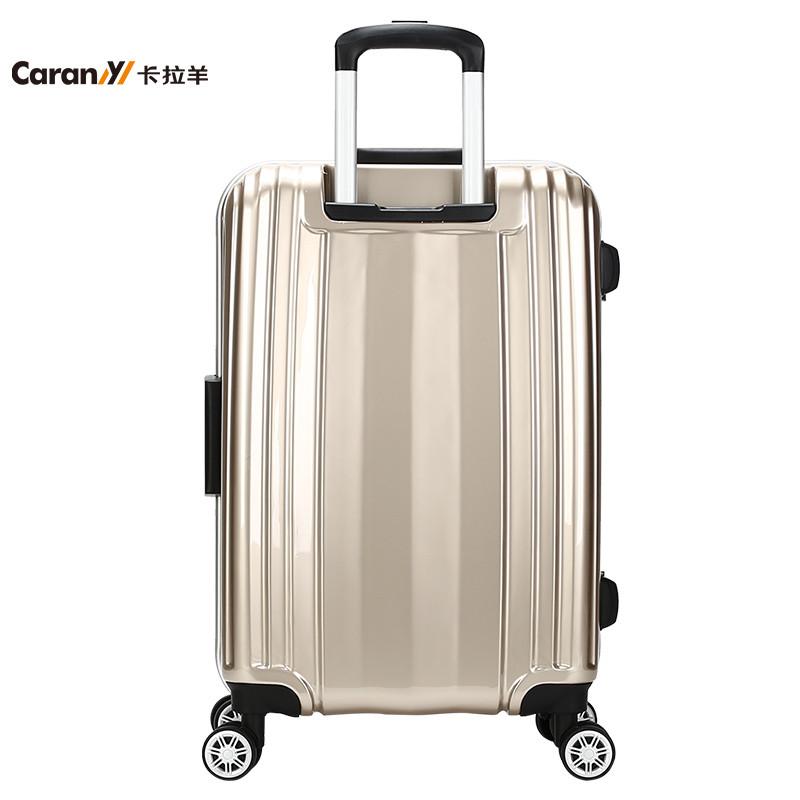 卡拉羊新款拉杆箱铝框行李箱飞机轮旅行箱男女28吋密码箱cs8485-28