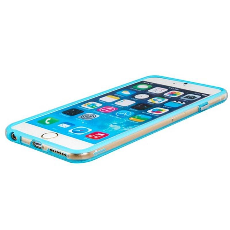 苹果6手机套 iphone6塑料边框 超薄外壳iphone6 plus (浅蓝色)