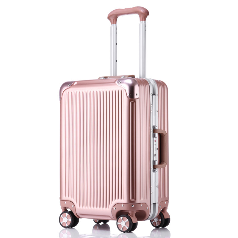 索奥suoao拉杆箱智能旅行箱蓝牙海关锁行李箱铝框箱男女拖箱皮箱20寸