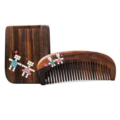 譚木匠 禮盒浪漫之戀 梳鏡套裝 梳子 鏡子 創意情人節禮物 送女生 情侶 禮盒 有布袋