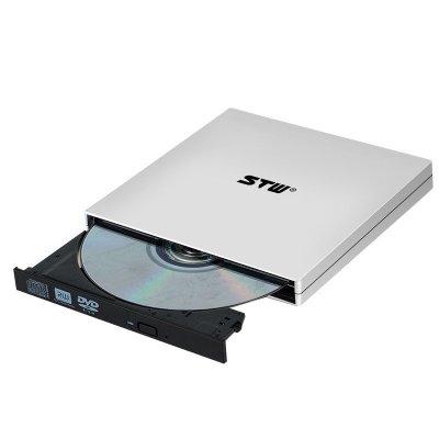 STW 电脑USB外置移动光驱 通用超薄移动光驱usb外置盒子CD刻录机 DVD光驱