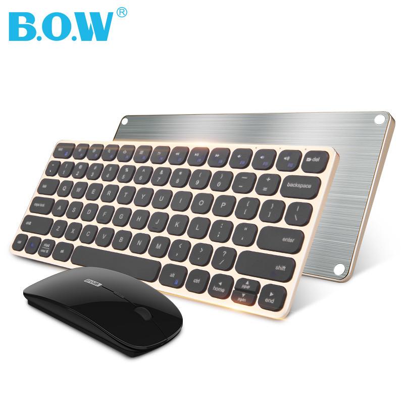 bow航世苹果无线键盘鼠标套装 笔记本电脑家用充电小键盘迷你便携