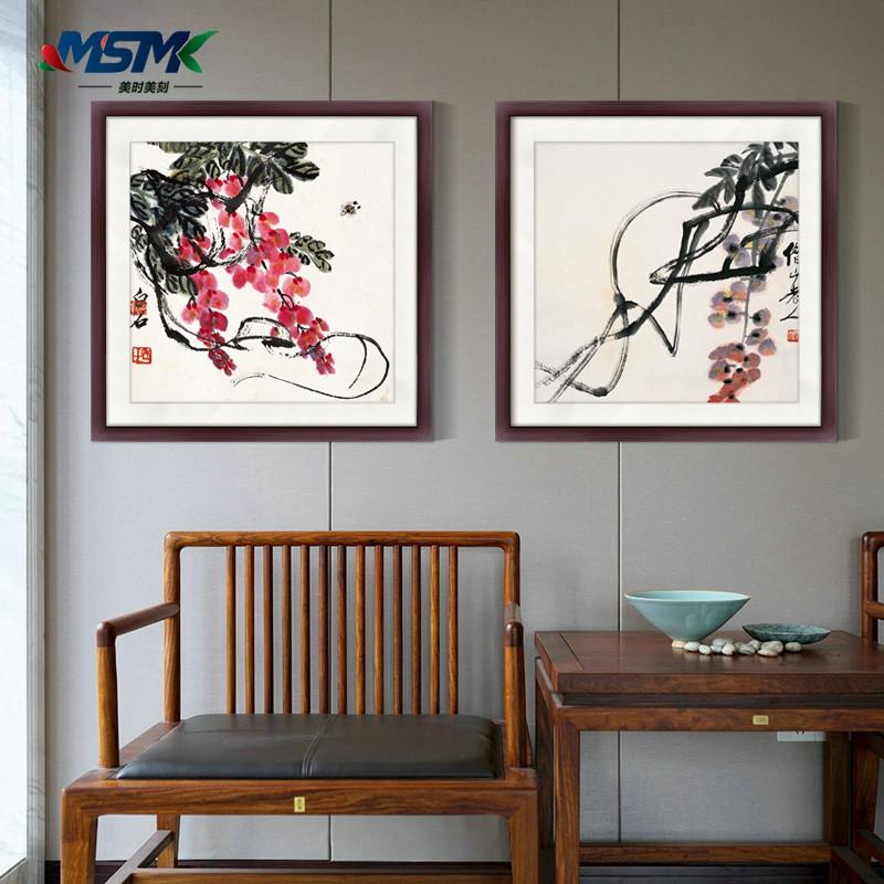 齐白石国画现代新中式禅意花鸟客厅装饰画玄关壁画饭店餐厅挂画图片