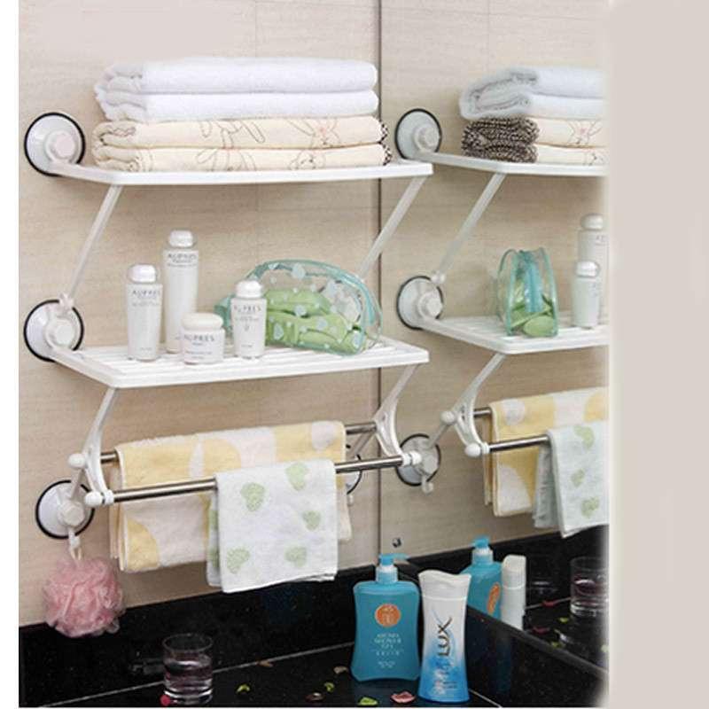 浴室架卫生间多功能塑料吸盘壁挂 置物架