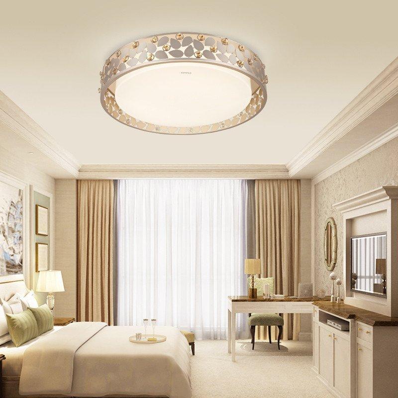 欧普照明 led卧室吸顶灯 现代简约时尚浪漫房间灯饰