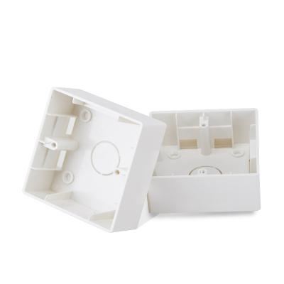 歐普照明開關插座 86型明裝盒 塑料明盒 明裝底盒接線盒開關盒