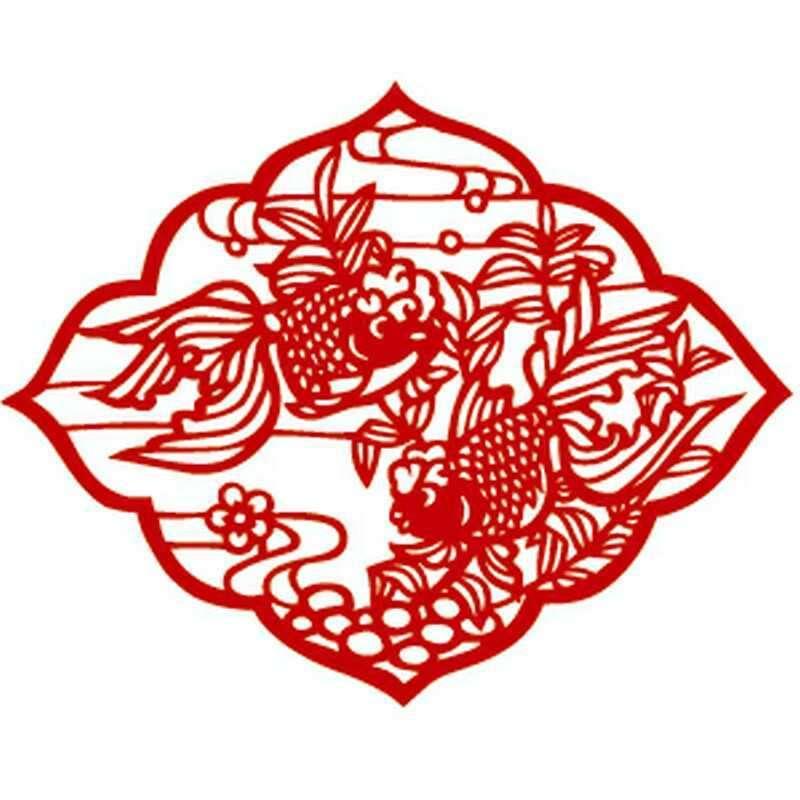 装饰2017春节鸡门装饰画植绒不干胶吊钱灯笼中国结镂空设计订制厂家