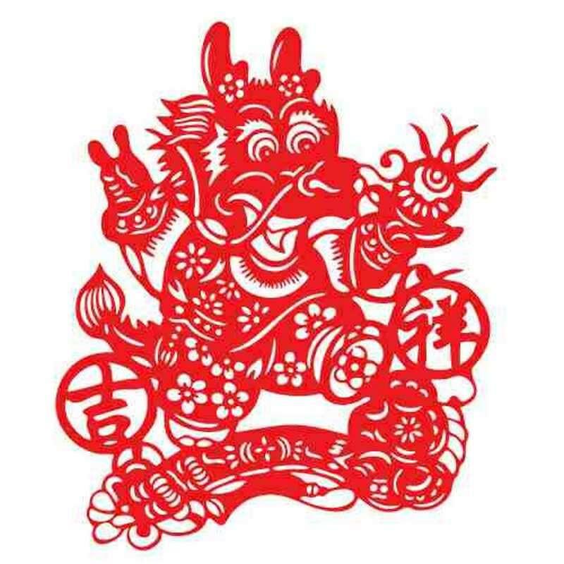 剪纸图腾窗花植绒不干胶吊钱毛毡吉祥如意灯笼橱中国结民族风镂空设计