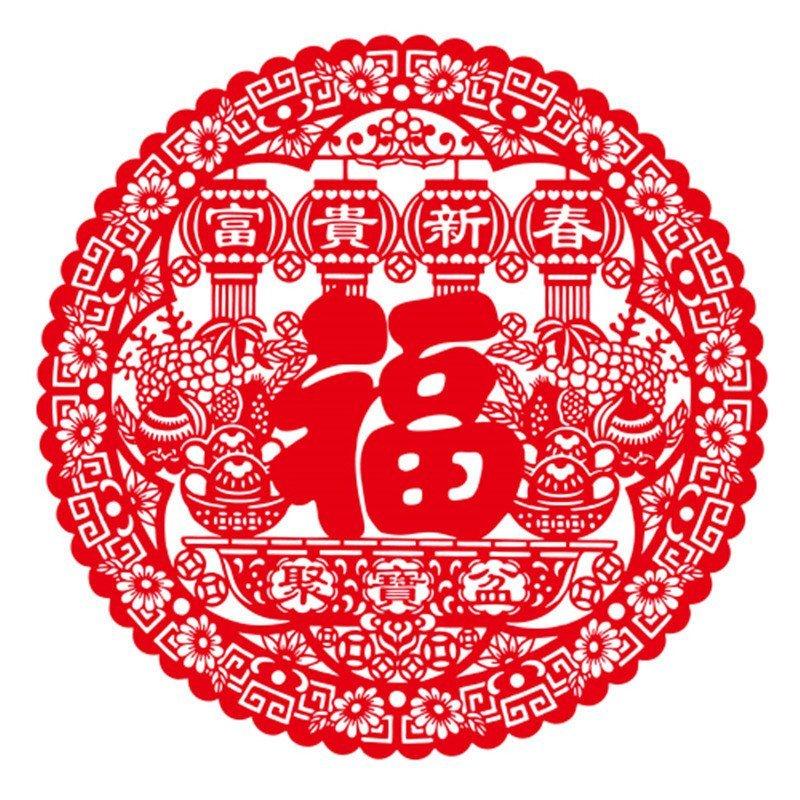 木制品窗花隔断中国结鸡剪福字贴厂