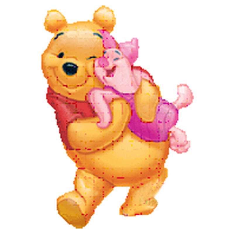 孩派highparty/生日用品/派对装饰/维尼熊人形铝箔气球大号 维尼 big