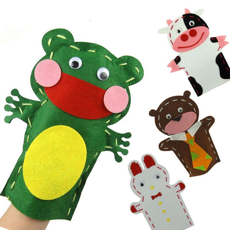 孩派 手工制作diy动物贴画创意针线缝制玩偶 布艺手偶