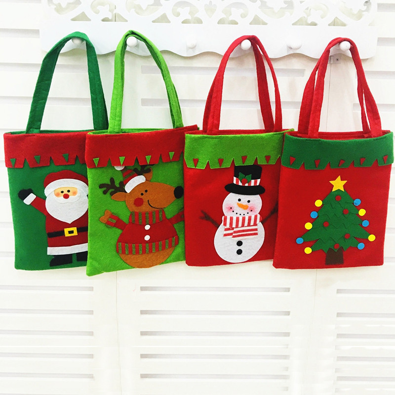 圣诞节装饰糖果袋 圣诞节礼物礼品袋袋 无纺布手提袋