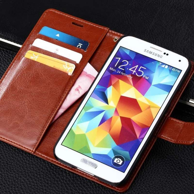 帕佳图 三星galaxy s5手机套 钱包式皮套三星g9008v g
