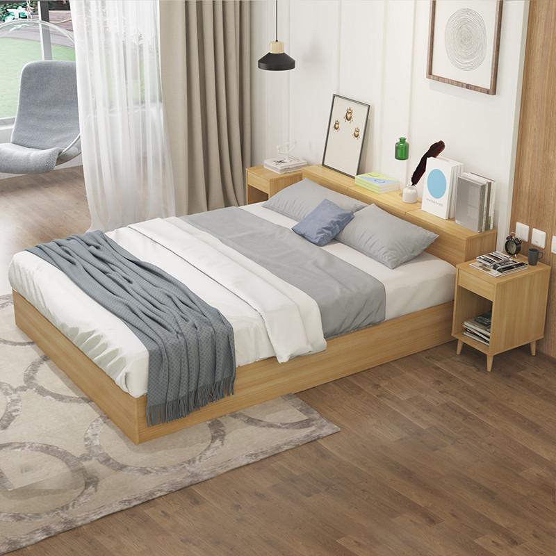 择木宜居 床 双人床 单人床 大床 木床 板式床 高箱头