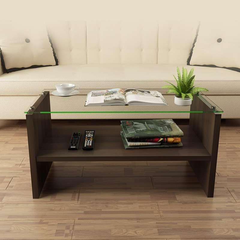 择木宜居 小户型客厅小茶几钢化玻璃茶几