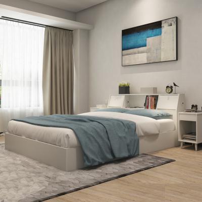 擇木宜居 木床 床 板式床 雙人床 單人床1.2米床 1.5米床1.8米床 床頭儲物床 實木排骨架床