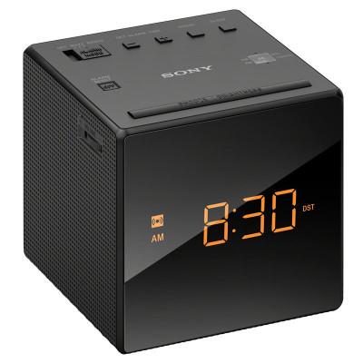 Sony/索尼【黑】 ICF-C1 FM/AM 时钟闹钟收音机 可爱嗜睡 音乐床头闹钟 懒人闹钟