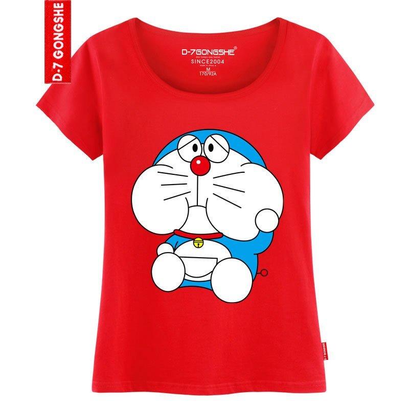 第七公社 恶搞蓝胖子卡通男装t恤韩版短袖可爱夏装 潮