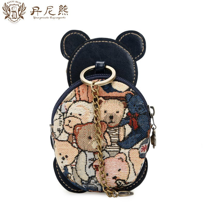 丹尼熊新款手包可爱小熊零钱包 精灵熊女生手拎手拿包