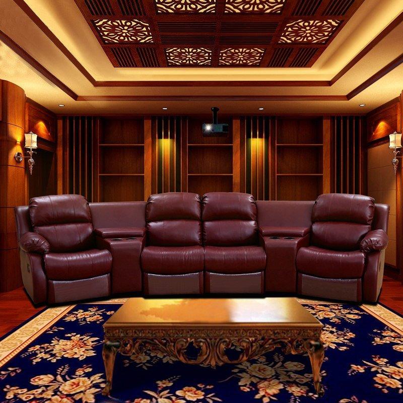 陆虎 家庭影院 影音室 影视厅 电动 功能沙发 芝华士功能头等舱 真皮