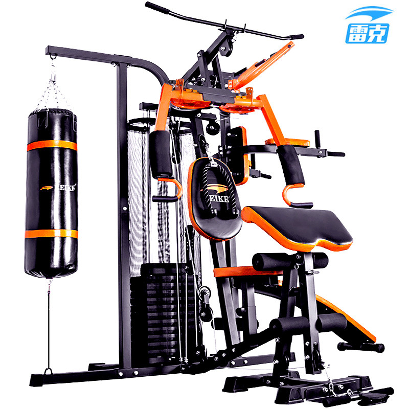 家用小型健身器材大全_健身器材 三人站综合训练器 家用力量组合器械健身房健身器材