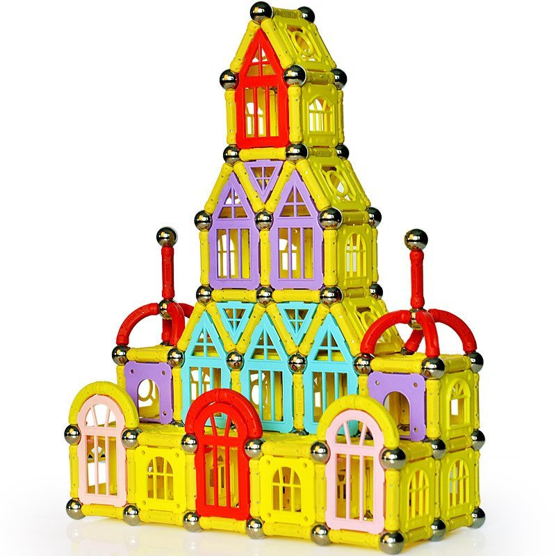 芙蓉天使磁力棒磁性拼搭建构积木儿童益智玩具 418袋装(汽车款)