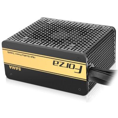先马(SAMA)金牌600W 额定600W(全电压/80PLUS认证/主动式PFC/扁线材)台式机电源